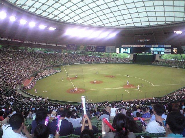 野球の試合を見に行った